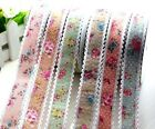 "5-20yd 1"" Lace Floral Polyester Ribbon fabric wedding Trim DIY L2285-2291"