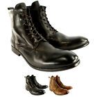 Mens H By Hudson Swathmore Leather Lace Up Smart Ankle Boots New UK Sizes 7-13