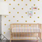 GOLD 81 Polka Dots Removable wall sticker decal Vinyl sticker for Kids/ Nursery