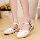 Fashion Women Summer Buckles Flat Shoes Walking Wide Casual Sandals New Pumps