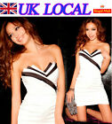 Hot Womens Sexy Mini Strapless Club Party Slim Bodycon Dresses UK Local Shipping