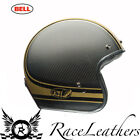 BELL 2016 CUSTOM 500 RSD CARBON GOLD BOMB OPEN FACE CRUISER MOTORCYCLE HELMET