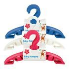 10 Pcs Pack Children Baby Clothes Hangers - Blue/Pink/White !! Brand New