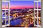 Huge 3D Window view Portugal Exotic City Wall Sticker Art Decal 1140