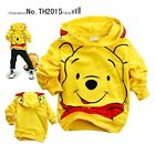 New boy girl cotton hooded poullover Top at2-7yrs Mickey/Minnie/Winnie/minions