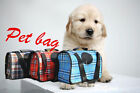 Fashion Outdoors Dogs Cats Shoulder Bag Classical Grid Pet Dog Paw Package Pet