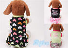 HOT Cute Fashion Cotton Costume Casual Pet Puppy Clothes Skirt Cat Dog Summer
