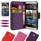 New Flip Wallet Leather Case Cover For HTC One Mini M4 Free Screen Protector