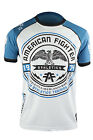 American Fighter Rollins T-Shirt (White/Ocean Blue)
