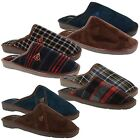Mens Dunlop Mule Garden Indoor Home Slippers Textile Strong Sole Shoes Sizes