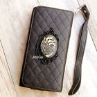 Heart phone Leather Pouch case Gothic Wallet Purse cover For LG G6 G5 G flex 2
