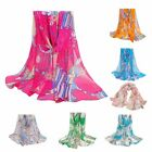 Women's Colorful Stylish Long Wrap Shawl Stole Chiffon Style Scarf WJ0149