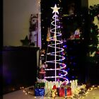 5' LED Spiral Xmas Tree Light Home Garden Holiday New Year Store Cafe Bar Decor.