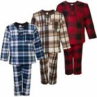 Kids Sleepwear Pjs Boys Girls Fleece Pyjama Set Shirt Pants Nightwear 1-14 Y
