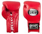Cleto Reyes Professional Lace Up Training Gloves (Red)