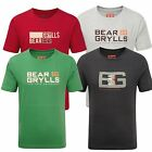Bear Grylls Childrens T Shirt Printed Boys Adventure Bear Logo 100% Cotton
