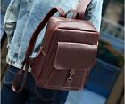 Large brown Vintage Mens Leather Backpack Shoulder Laptop Bag Briefcase BP010