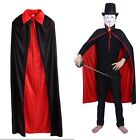 "Unisex HALLOWEEN Cape 52"" Lined Satin Fancy Dress Vampire Cape + Collar"