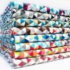 Le TRIANGLE GEOMETRIC 100% COTTON FABRIC MODERN PRINT 160cm OEKO-TEX