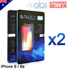 2x NUGLAS Tempered Glass Screen Protector Apple iPhone XS Max XR 8 7 6 6s Plus 5