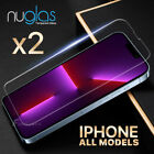 2xGENUINE NUGLAS Tempered Glass Screen Protector Apple iPhone XS Max XR 8 7 Plus