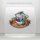 Decal Sticker Shark Hawaii Surfer Helmet Motorbike Bike vinyl bike mtv ZZ463