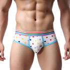 New Mens Sexy Underwear shorts Men boxers Underpants Solid Soft Briefs Xmas Gift