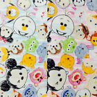 Disney Tsum Tsum Sheeting Cotton Japanese Fabric / Half Yard