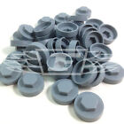 "16mm ALASKA GREY HEXAGONAL SCREW COVER CAPS TO FIT 8mm (5/16"") TEK SCREWS (AM8)"