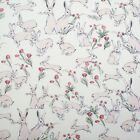 RABBITS AND HARES CREAM - WILDLIFE - MAKOWER INPRINT 100% COTTON FABRIC rabbit