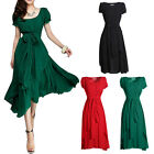Retro Elegant Women's Maxi Chic Chiffon Long Ball Party Irregular Evening Dress