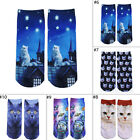 Fashion Women Men 3D Print Animal Socks Casual Cartoon Socks Unisex  Ankle Socks