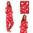 Womens Hedgehog Onesie Ladies Hooded All In One Sleepsuit Loungewear