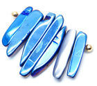 7pcs/set rainbow titanium agate rough skin pendant DIY bead 26-46mm