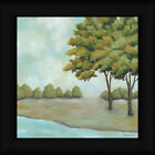 The First Sign of Fall II 12x12 Landscape Painting Framed Art Print Picture