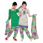 Triveni Scenic Printed Polyester Salwar Kameez With Dual Tops