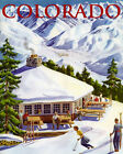 Ski Colorado Lodge Skiing Winter Sport American 16X20 Vintage Poster FREE S/H