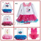 New Baby Girls Princess Party/Birthday Tutu one piece Dresses 6-9M,9-12M ,12-18M