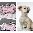 Cute Bone Shaped Dog Tag Stainless Steel Pet Cat Dog ID Tags Funny