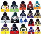 New Era NFL Logo Whiz Skully Winter Beanie Cuffed Pom Authentic Original Hat Cap $14.95 USD on eBay
