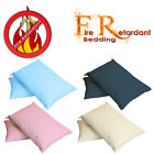 Fire Retardant Pillow Case / Cover (BS7-175 Crib7) in 8 Colours