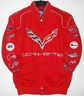 Authentic Corvette Racing Embroidered Cotton Jacket  JH Design Red new
