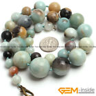 Handmade 6-20mm Natural Amazonite Round Rondelle Beaded Necklace Jewelry Gift