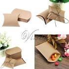 50/100 Cute Kraft Paper Pillow favor Box Wedding Party Favour Gift Candy Boxes