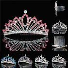 NEW Crystal Flower Girl Tiara Crown Kids Rhinestone Princess Headpiece Hair Comb