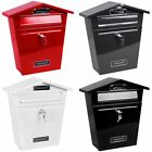 Steel Post Box Postbox Lockable Letter Mail Wall Mounted New By Home Discount