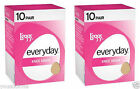 20 Pairs L'eggs Everyday Sheer Knee Highs Stockings Reinforced Toes - Lot 1-