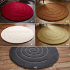 MEDIUM - LARGE THICK CHUNKY ROUND CIRCULAR CIRCLE 100% WOOL TEXTURED SPIRAL RUGS