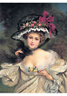 Portrait of a Lady Wearing a Hat by Francois Martin Kavel (Art Print of Vtg Art)