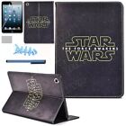 Cartoon Star Wars The Force Awakens PU leather case stand cover for Samsung iPad